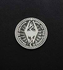 Septim coin inspired by The Elder Scrolls game made from white bronze