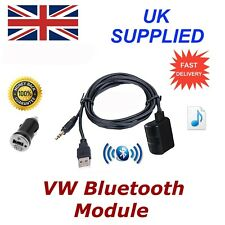 VW Bluetooth Music Module Samsung iPhone LG HTC 3.5mm Aux input 1A Power Adapter