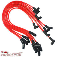 RED 45 DEGREE END Spiral Core SPARK PLUG WIRES HEI For CHEVY BBC 396-427-454-502