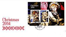 2014 Christmas (Mini Sheet) FDC - Merrylands NSW 2160 PMK