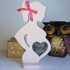Wooden Unique Photo Frame Pregnant Women Pattern Picture Holder Modern Accessory