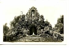 Immaculate Conception Grotto-Carroll-Iowa-RPPC-Real Photo Vintage Postcard
