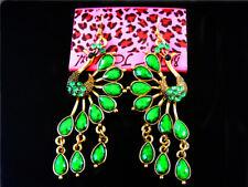 Women's Ear Stud Earrings Hot Betsey Johnson Beautiful Crystal Turquoise peacock