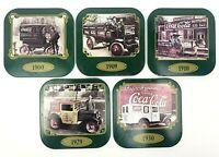VTG Coca Cola Set of 5 Original Box Metal Coke Delivery Truck 1900-1930 Coasters