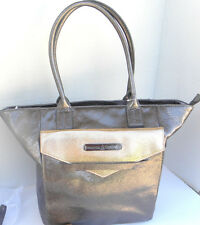 Disney Park Kingdom Couture large Tote Bag Purse Nwt real Leather gold bronze
