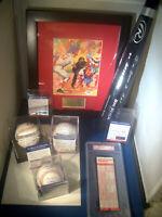 PETE ROSE Signed MLB Collection PSA/DNA 10 * Stat Baseball Bat Ticket Print LOT