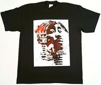 TUPAC SHAKUR T-shirt 2Pac Urban Hip Hop Rap Mens Tee Adult 100%Cotton Black New
