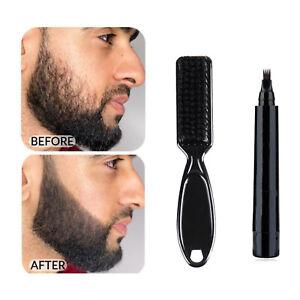 Beard Filling Pen Kit Beard Filler Pencil And Brush Moustache Enhancer Coloring*