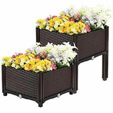 Vivohome Raised Beds Elevated Plastic Garden Planter Kit For Flower Vegetable