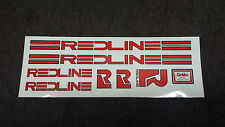CUSTOM REDLINE BMX DECALS STICKERS 80'S PROLINE MX STYLE OLD SCHOOL COMPLETE SET