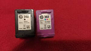 2 Genuine Hewlett Packard HP 302 Empty Ink Cartridges - Black & Colour
