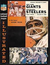 1965 New York Giants-Steelers Program Frederickson 3 TDs Giants Cruise NICE!!