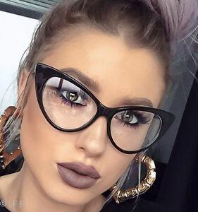 Sexy Attitude NIKITA Fashion Cat Eye Glasses Celebrity Clear Lens Hot Frames L