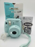 Fujifilm Instax Mini 9  Ice Blue Instant Film Camera  TESTED WORKING