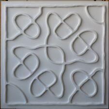 Ceiling tile Faux tin matt white 3D enchas cafe decor wall panel PL28 10tile/lot