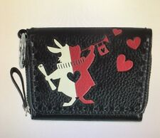 VERA BRADLEY DISNEY WHITE RABBIT PAINTING THE ROSES RED MALLORY CARD CASE
