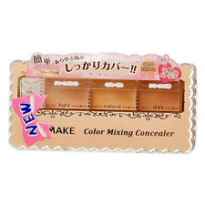 [CANMAKE] 01 LIGHT BEIGE Mixing Color Concealer 3 Shades Palette SPF50 PA++++