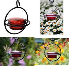 Monarch Circular Hummingbird Feeder Red Glass Feeder Perch