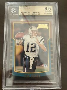 2000 Bowman Football Tom Brady ROOKIE RC #236 BGS 9.5 GEM MINT
