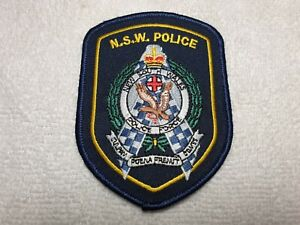 Australia NSW New South Wales Sheriff Police Patch Applique Crest Logo 3.5 Inches X 4 Inches
