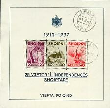 ALBANIEN 1937 BLOCK1 gest 180€(A0508b
