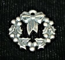 James Avery Holiday Wreath Sterling Silver Charm Christmas New Year's Eve