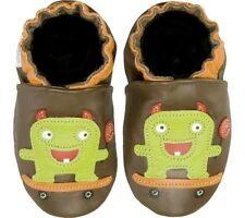 NIB ROBEEZ Shoes Lollipop Skateboard Monster Green Brown 0-6m 0 1 2