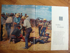 1957 Article Photo Ad Callow Cowboys Roundup at W R Wooten Red River Ranch NM