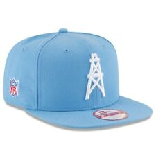 new style 26f9f 63a56 HOUSTON OILERS HISTORIC LOGO NFL NEW ERA 9 FIFTY BAYCIK BLUE SNAPBACK HAT  CAP