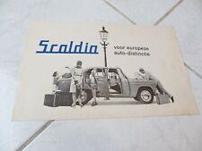 Moskvitch Scaldia 1400 403 1963 brochure catalogue commercial sales marketing