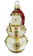 Patricia Breen Bejeweled Snowman Red Christmas Tree Holiday Ornament 2001