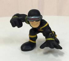 Marvel Super Hero Squad RARE CYCLOPS Black Costume Crouch from Collector Pack  b