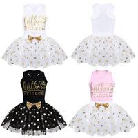 Baby Girls Birthday Princess Dress Party Outfits Tops+Polka Dots Tutu Skirts Set