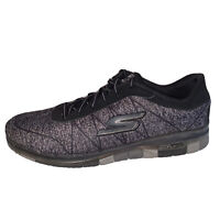 Skechers GoFlex Walk Walking Shoes 14011 Grey Black GoGaMat Womens Size 10