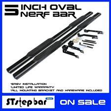 """FORD 99-16 F250/350/450/550HD CREW Cab 5"""" Black Side Step Nerf Bar running board"""
