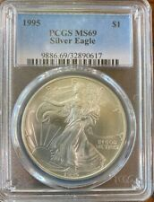 1995 $1 Silver Eagle, MS69, PCGS Certified