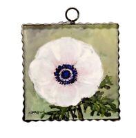 Round Top Collection NWT - Mini Blush Anemone Print - Metal & Wood