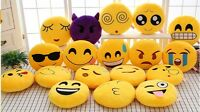 "12"" Emoji Emoticon Yellow Round Cushion Stuffed Pillow Plush Soft Decor Toys Poo"