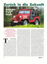 MAHINDRA CJ 340 1,9 D Classic - JEEP   -- TESTBERICHT - REPORTAGE - 1996