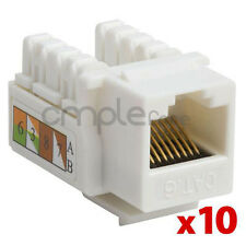 10x Cat6 RJ45 Punch Down Keystone Jack CAT6 Network Ethernet RJ45 White Lot NEW