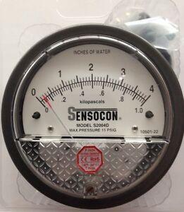 Sensocon Pressure Gauge 0-1kPA/0-4 In w.c. alternative to Dwyer Magnehelic