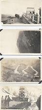 SET OF 4 1925 PHOTOS OF MOUNTAIN, RAILROAD,   SEVEN FALLS - COLORADO SPRINGS, CO
