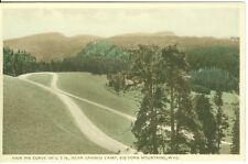 Big Horn Mountains, WY The Hair Pin Curve on U.S. 16, Hand Colored