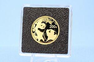 China 200 Yuan 2021 Panda   *  15 Gramm  999 Gold *