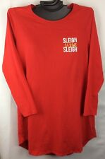 Cacique Lane Bryant RED Soft Comfortable Long Sleeve Plus Size Sleep Top Shirt