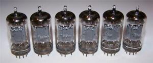 <> 6 vintage Telefunken smooth plate 12ax7 ecc83 tubes -tested- <>