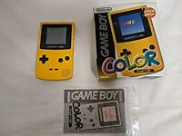 Nintendo Game Boy Color GBC Yellow Console w/s Box Used Japan Rare 1998 F/S