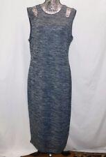 New! Philosophy Navy & Gray Space Dye Sleeveless Cold Shoulder Knit Dress.....XL