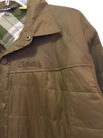 Cabela's Insulated Quited Snap Front Jacket Green Mens Size Large Regular