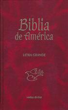 Biblia de America Letra Grande Pasta Dura Roja -CATOLICA- Editorial Verbo Divino